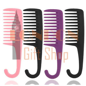 1 LARGE SALON HAIRDRESSING SHOWER COMB WIDE TOOTH DETANGLER WET HAIR BRUSH COMBS