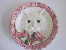 Fitz and Floyd Kitty Wall Plate 8 1/4""