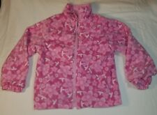 Arizona Jeans Co Girls Jacket Reversible Pink Fleece Flowers M Size Coat