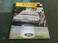 Nov 1985 FORD ALL MODEL CATALOGUE Fiesta Escort Capri Sierra Granada UK BROCHURE