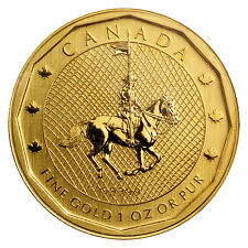 2011 1 oz Gold Canadian Mountie Maple Leaf Coin