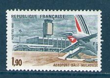 TIMBRE 2203 NEUF XX LUXE - AEROPORT BÂLE MULHOUSE - PASSERELLE SWISSAIR  + AVION