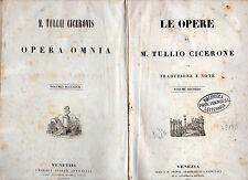 le opere di marco tullio cicerone - volume secondo - 1849 -