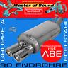 MASTER OF SOUND EDELSTAHL SPORTAUSPUFF OPEL OMEGA B LIMO 2.5 2.6 3.0 3.2 V6
