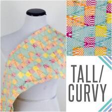 Lularoe TC Tall & Curvy Legging Teal Orange Yellow Red design NEW