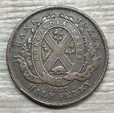 1837 Canada Half Penny Token Lower City Bank Province Du Bas (TB1-14)