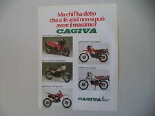 advertising Pubblicità 1985 CAGIVA 125 ALETTA ORO/ROSSA/ELECTRA/WMX/ELEFANT