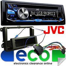 VW EOS 05-15 JVC CD MP3 Usb Aux Ipod Coche Radio Stereo Kit Rojo Pantalla