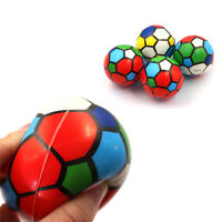 1PC Stress Relief Vent Ball Colorful Mini Football Squeeze Foam Ball Kids Toy XC