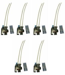 SET of 6-Muzzys PT2135 Fuel Injector Connector Wire Harness Repair Kit w/Splices