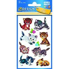 30 AVERY Zweckform Aufkleber 4346 Katzen Sticker Deko Selbstklebend!