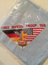 BSA MILITARY USA Three Rivers Germany Embroidered Neckerchief Mint Condition