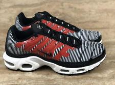 Nike Air Max Plus Tn Tuned Se Running Shoes Striped Black White Red Zebra
