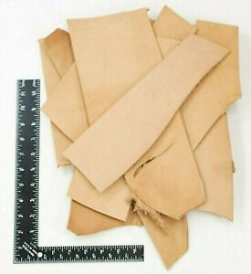 ELW 4LB Vegetable Tan Tooling Cowhide Leather Scraps - HEAVY WEIGHT 7oz-12oz