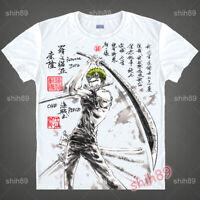 Anime ONE PIECE Roronoa Zoro Tee T-shirt Short Sleeve Unisex Tops Ink Print