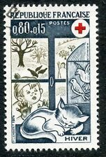 STAMP / TIMBRE FRANCE OBLITERE N° 1829  CROIX ROUGE L'HIVER