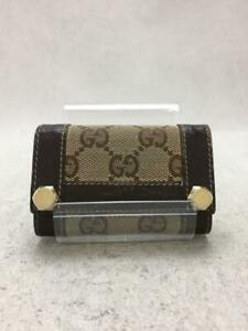 Gucci  154164 · 0959 6 Series Key Hook Gg Pattern Canvas Brown Key case
