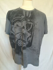 Marc Ecko Star Wars Mens T-Shirt 2XL Darth Vader Gray Cut & Sew Short Sleeves