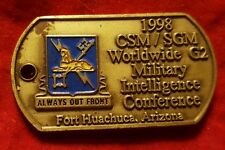 G2 Military Intelligence Conference 1998 Challenge Coin (VINTAGE ~ AUTHENTIC)