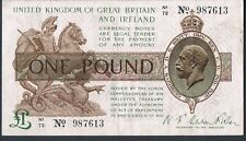GREAT BRITAIN WARREN FISHER BANKNOTE 1 T31 P359a 1923 GVF Ser N1 Bright note