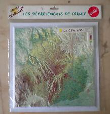 Carte en Relief, La Cote d'Or, 21, Géorelief, Départements