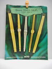 Vintage - Guarantee Watch & Sales Co.  Wholesale Catalogue Montreal, Quebec 1970
