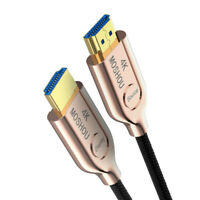 MOSHOU Optical Fiber HDMI 2.0 Cable Ultra-HD (UHD) 4K Cable 60Hz 18Gbs with Wifi