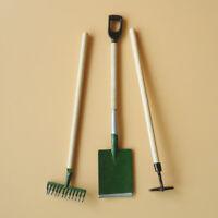 1:12 Puppenhaus Miniature Möbel Gartenarbeit Werkzeuge Schaufel Hacke Reche N6G9