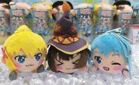 KONOSUBA key chain mascot 3 set Plush Stuffed toy aqua darkness megumin JAPAN