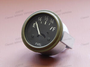 Willys MB Ford GPW Fuel Gauge 6 Volt. Best USA Reproduction CJ2A Gas Gage Guage.