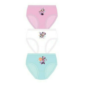 MINNIE MOUSE GIRLS PACK OF 3 BRIEFS (PINK/WHITE/BLUE)
