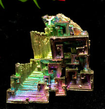 75g   Mystery of rare natural bismuth crystal square hole crystal cluster