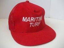 Maritime Turf Spell Out Hipster Work Hat Vintage Red Snapback Trucker Cap