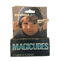 Sylvania Magic Cubes Blue Dot MAGICUBES Pack of 3 UNOPENED Vintage DeadStock
