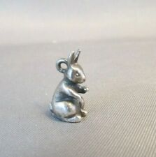 RARE RETIRED James Avery Sterling Silver 3D Cottontail Bunny Charm Rabbit 925