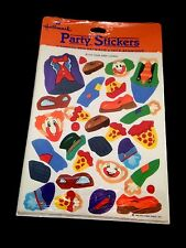 Vintage 1983 New Sealed Hallmark Build Your Own Party Clown Stickers 4 Sheets