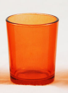 Orange Glass TeaLight Candle Holders Wedding Event Party Dutch Table BUY QTY RQD