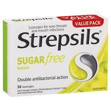 Strepsils Sugar Free 36 Lemon Lozenges