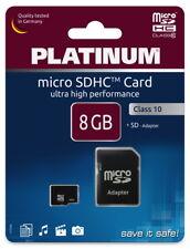 Platinum Micro SDHC Karte 8GB Speicherkarte UHS-I Class 10