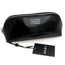 New DKNY Black Patent Logo Makeup Bag (Cosmetics Case) Gift
