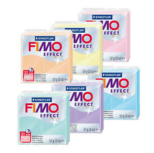 Fimo Effect PASTEL 57g Polymer Clay Full 6 Colour Range Modelling Materials