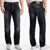 Nudie Herren Regular Straight Fit Jeans Hose | Hank Rey Indigo Depth
