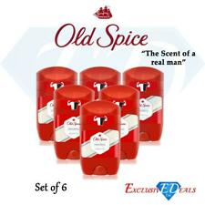 Old Spice Original Deodorant Stick Fresh Mens Odour Free Roll On 50ml x 6