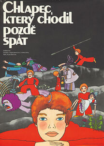 Original Vintage Poster Film Russian Fairytale The Boy Who Went to Bed Late 70s
