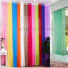 Lucy Slot Top Voile Net Panels, Voiles Lined Curtains Rod Many Sizes & Colours