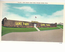 Fort Weare Game Park   Pigeon Forge  TN   Unused Linen Postcard 10244