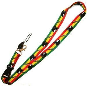 BOB MARLEY Freedom Theme Neck Green Yellow Red Lanyard Strap Key Card ID Holder
