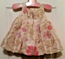 Cherokee Infant Puffy Floral Silky Dress Baby Girl  ~Size 6 months ~