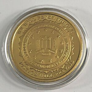 2001-2011 10TH ANNIVERSARY SEPTEMBER 11TH USS N.Y. / F.B.I. COMMEMORATIVE COIN