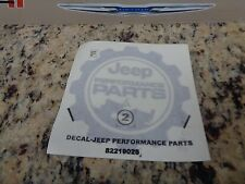 Jeep Wrangler Parts Performance Parts Emblem Decal Nameplate Badge Sticker OEM